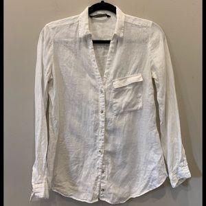 Zara linen shirt size xs